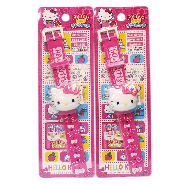 Hello Kitty 凱蒂貓電子錶(內附電池)/一個入(促199) KT電子錶 立體頭型電子錶 兒童錶 凱蒂貓手錶-授權商品-佳KT012347