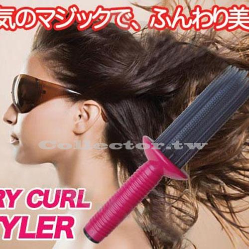 日本美妝店熱賣商品-空氣感蓬髮造型梳 捲髮棒 蓬髮器 劉海蓬鬆捲髮梳 免插電