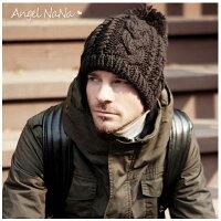 保暖配件推薦帽子推薦到(現貨供應) 冬保暖必備男女毛帽子 編織麻花 毛球 針織 【HA0005】AngelNaNa就在AngelNaNa推薦保暖配件推薦帽子