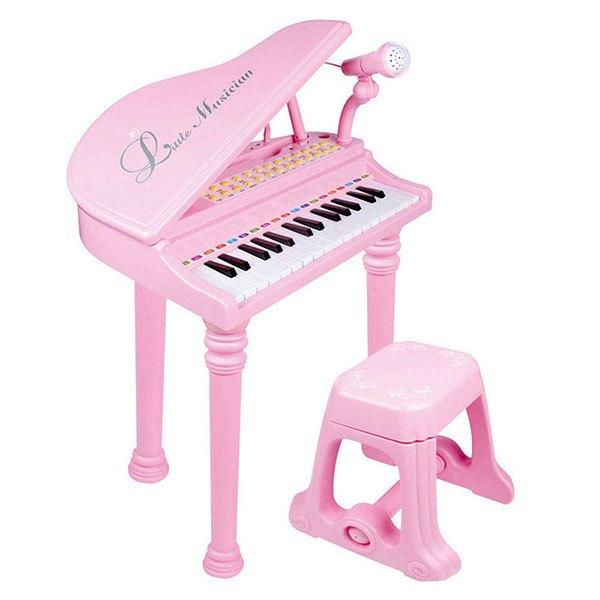 【888便利購】1504仿真三角鋼琴(高級鋼琴烤漆)(可USB充電)