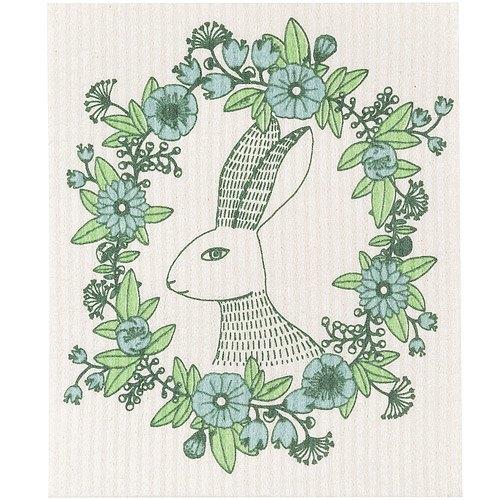 《NOW》瑞典環保抹布(花圈兔)