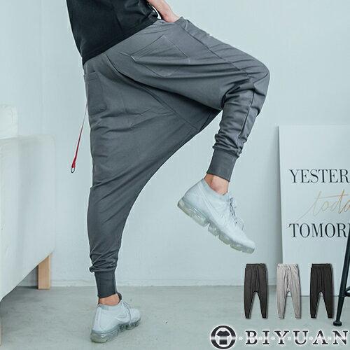 飛鼠褲【FM1006】OBIYUAN韓版素面螺紋飛鼠休閒棉褲共3色