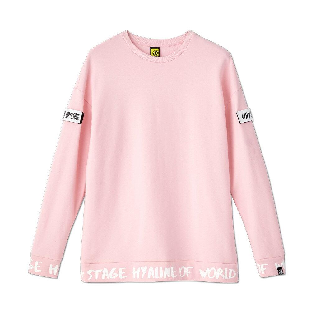 STAGE SIGN BORDER LS SWEATER 黑色 / 粉紅色 兩色 2