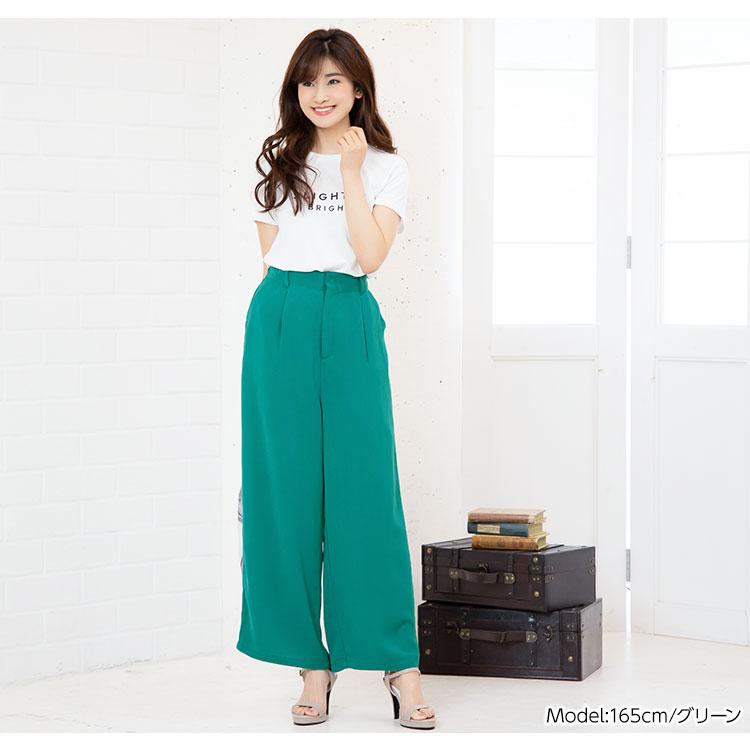 日本Kobe lettuce / 休閒素色寬版高腰長褲 / 日本必買 日本樂天代購 / mobacaba-m2423 (2305)。件件免運 5
