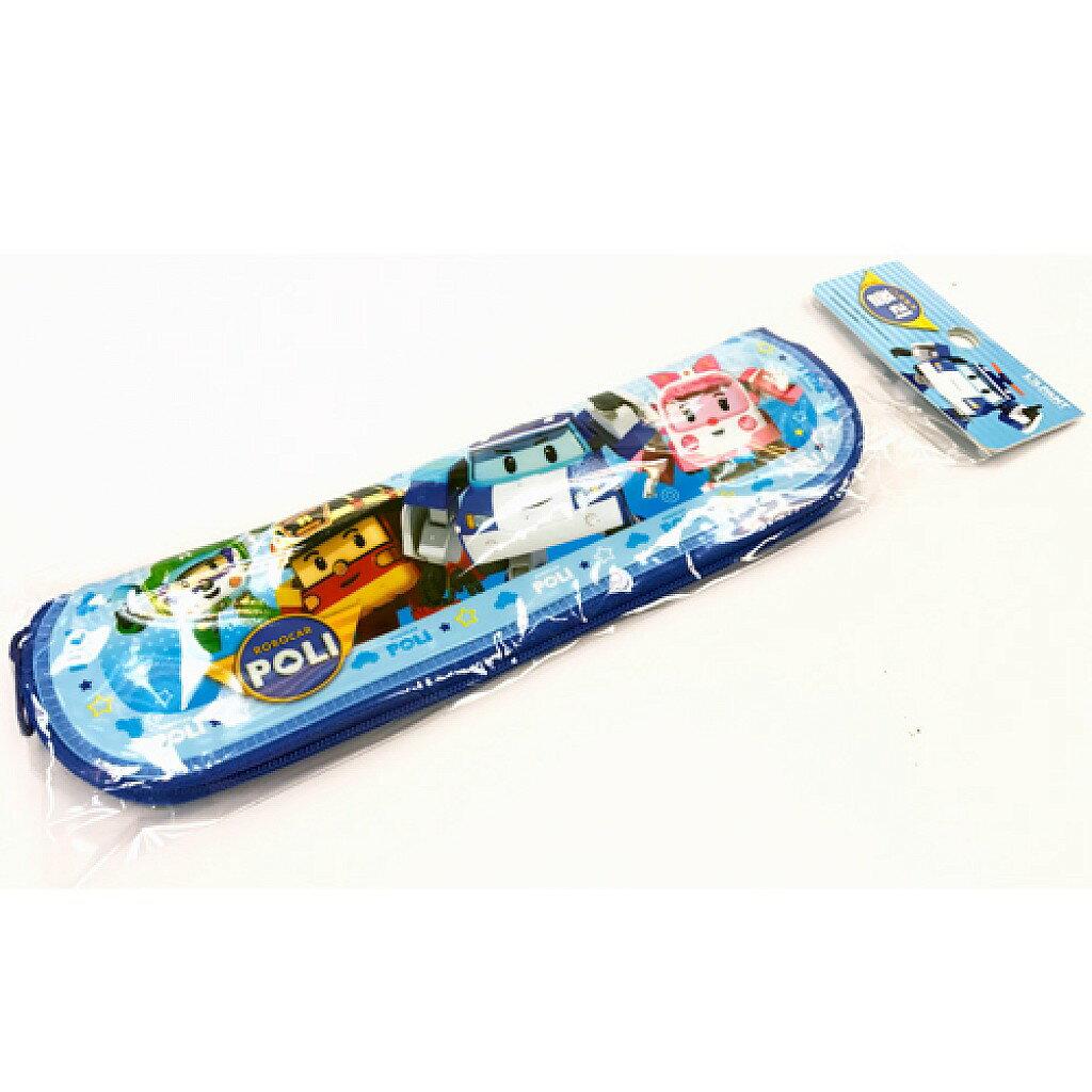 X射線【C026738】Poli餐具袋(藍),韓國製/筷袋/餐具組/環保餐具/開學必備/波力