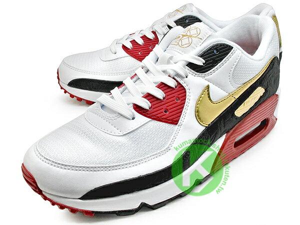 2020 經典復刻慢跑鞋 鼠年 農曆年 NIKE AIR MAX 90 白黑紅金 CNY 中國風 網面 皮革 大氣墊 慢跑鞋 (CU3005-171) 0220 1