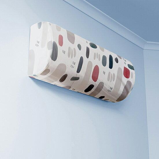 ?MY COLOR?清新印花掛式冷氣套 冷氣罩 空調罩 防塵 保護罩 居家 彈性 PEVA材質 防髒【N346】