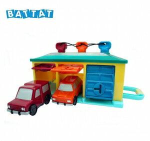 美國【B.Toys】Battat系列(黃綠紅車庫)