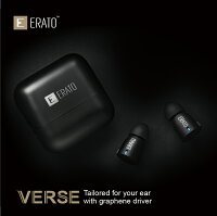 ERATO Verse Wireless Bluetooth Earbuds - Black (AEVE00BK) with Portable Charging Case