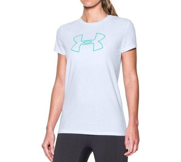 《UA出清6折》Shoestw【1290672-100】UNDERARMOURUA服飾短袖運動上衣能量棉白色女生