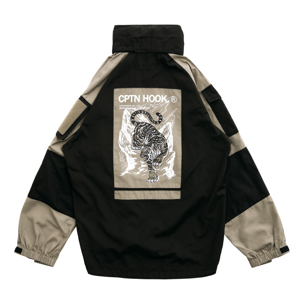 【CPTN HOOK】TIGER ON THE HILL COAT(黑 / 卡其) 高領 抗寒 防風 風衣外套(palace store) 1