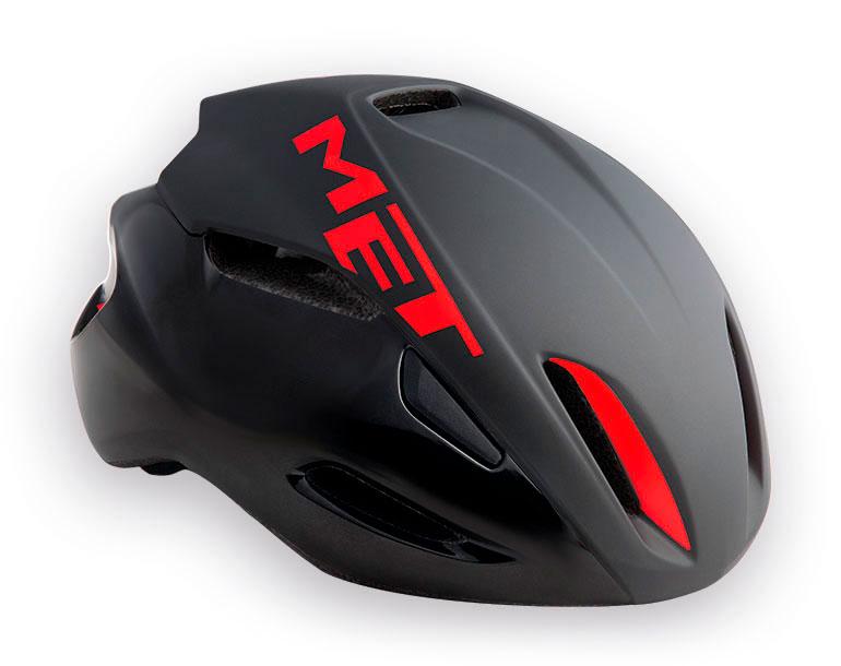 【7號公園自行車】Met 2017 MANTA頂級空氣動力帽(黑紅)