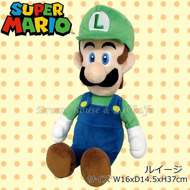 日本正版 任天堂 路易 絨毛玩偶 《 M 》 ★ Mario 瑪莉歐/馬力歐 ★ 夢想家精品家飾