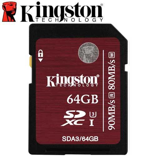 Kingston 金士頓 64GB 90MB/s SDXC SD UHS-I U3 C10 記憶卡