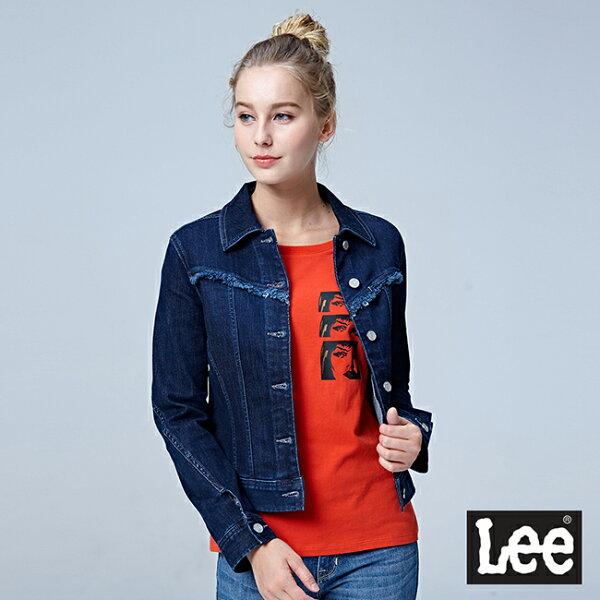Lee牛仔外套BO-深藍色洗水