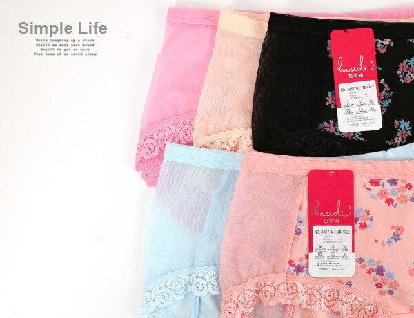 3件199免運【夢蒂兒】莫代爾纖維 網布玫瑰車邊三角褲3件組(隨機色) 1