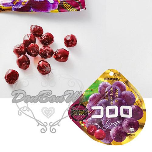 日本UHA味覺糖Kororo果汁100%軟糖白葡萄627222葡萄633155草莓659742海渡