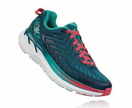 HOKAONEONE女慢跑鞋Clifton4(珊瑚藍)超輕量級緩震HO1016780BCCM【胖媛的店】