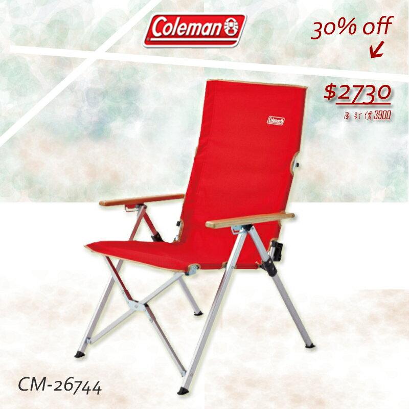 《★限時預購5/23~6/3》【露營趣】中和安坑 Coleman CM-26744 LAY躺椅 三段可調椅背 摺疊椅 露營椅 休閒椅 巨川椅