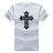 ◆快速出貨◆T恤.情侶裝.班服.MIT台灣製.獨家配對情侶裝.客製化.純棉短T.單色十字架 JESUS【YC438】可單買.艾咪E舖 1