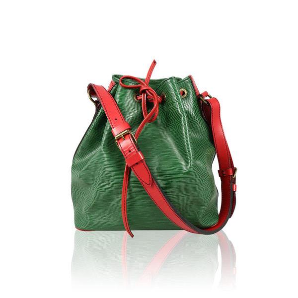 【LV】綠色 紅色背袋 EPI 水桶包(小) LV13000126