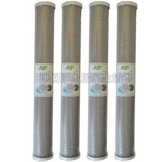 [淨園] ASF奈米銀活性碳濾心20吋CTO(4入特惠)-外表包覆奈米銀濾布殺菌能力為一般的200倍