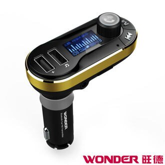 【WONDER旺德】 車用藍牙音響轉換器 WA-V02TB(FM無線/藍芽無線/雙無線)