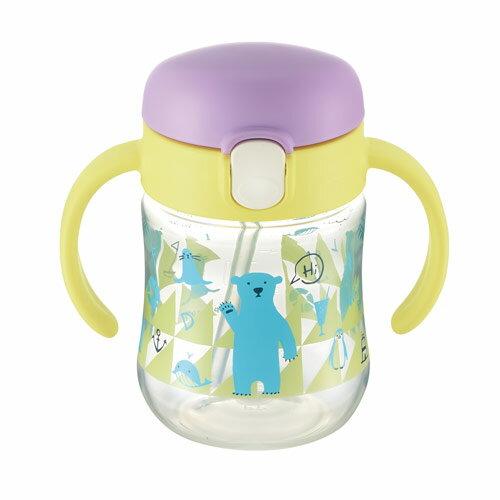 日本RichellTLI水杯-艾登熊鴨嘴吸管水杯200ml【悅兒園婦幼生活館】
