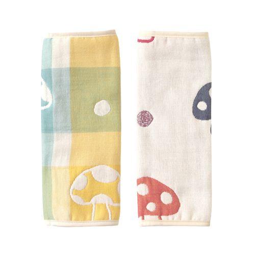 小奶娃婦幼用品:Hoppetta-六層紗繽紛蘑菇背巾口水巾