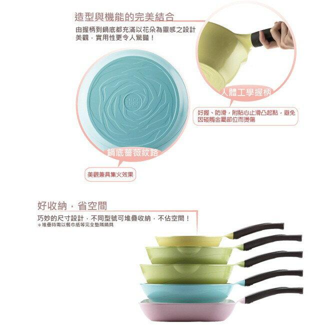韓國 Chef Topf薔薇系列26公分不沾平底鍋(粉色)/韓國製造/不沾鍋/洗碗機用/最美鍋 5