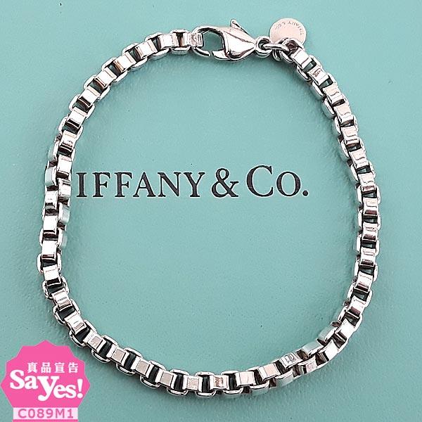 【奢華時尚】Tiffany 情人款威尼斯 925純銀手鍊(八五成新) #21034
