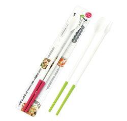 大賀屋 日本製 矽膠 筷子 叉子 湯匙 耐熱 安全 下廚必備 煮菜 炒菜 3合一 正版 授權 J00014777