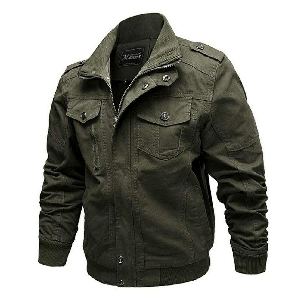 巴黎精品 軍裝外套立領夾克-寬鬆純棉個性純色男外套3色73wn15【獨家進口】【米蘭精品】