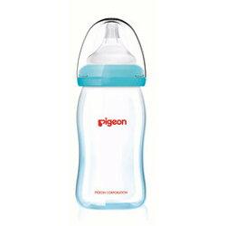 貝親 PIGEON 矽膠護層寬口母乳實感玻璃奶瓶160ml/藍 P26736B【紫貝殼】