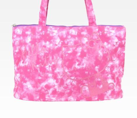 X射線~C544416~Hello Kitty 美國版斜背提袋 粉染 ,美妝小物包  筆袋