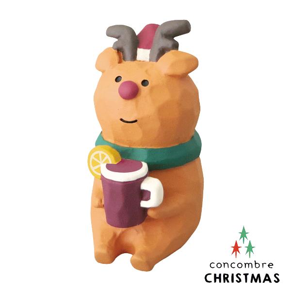 【聖誕節限定版】Decole 日本擺飾小玩偶 / 公仔 -  Concombre 喝果的麋鹿 ( ZXS-48148 )  現貨