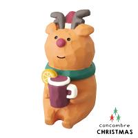幫家裡聖誕佈置裝飾到【森林系聖誕節限定版】日本擺飾小玩偶 / 公仔 -  Concombre 喝果的麋鹿 ( ZXS-48148 ) 推薦聖誕交換禮物 聖誕佈置裝飾推薦