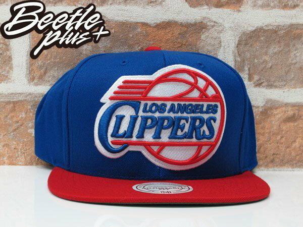 BEETLE PLUS 全新 MITCHELL&NESS NBA 洛杉磯 快艇 LA CLIPPERS PUAL 紅藍 SNAPBACK 後扣棒球帽 MN-10