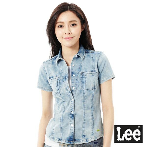Lee牛仔短袖襯衫-女