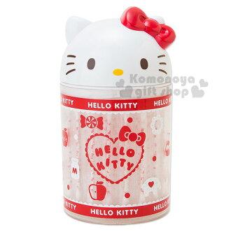〔小禮堂〕Hello Kitty 造型棉花棒盒《60入.白.大臉.點點》單支包裝