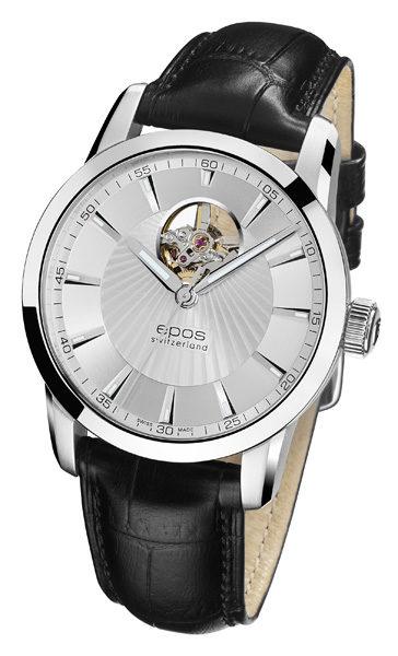 epos 愛寶時 3423.133.20.18.25FB 時尚透視擺輪機械腕錶 / 白面40.8mm - 限時優惠好康折扣