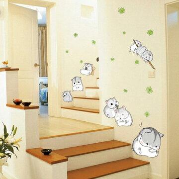 WallFree窩自在★DIY無痕創意牆貼/壁貼-可愛小倉鼠