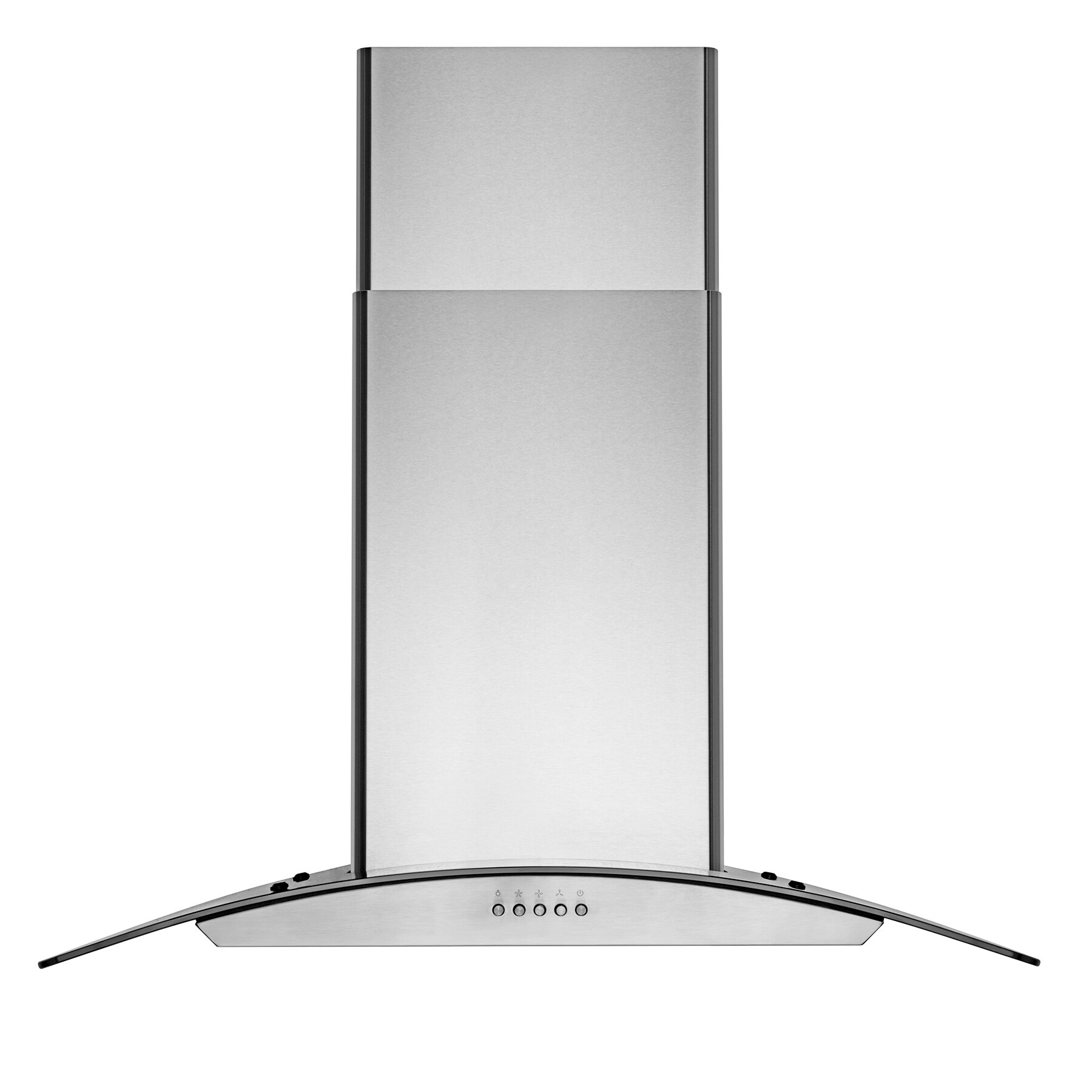 """AKDY 30"""" Wall Mount Stainless Steel Tempered Glass Push Panel Kitchen Range Hood Cooking Fan 2"""