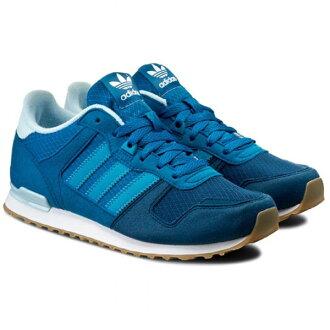 Adidas ORIGINALS ZX 700 J 女鞋 慢跑鞋 休閒 輕量 藍 【運動世界】 S76241【1月會員神券★消費滿1000結帳輸入序號New2018-100↘折100   消費滿128..