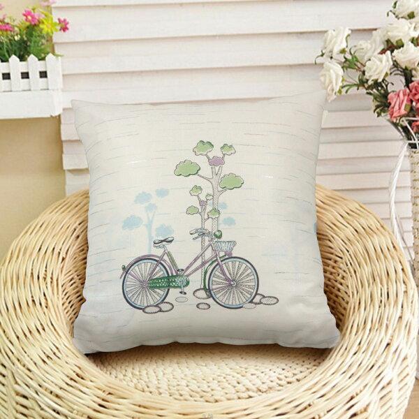 巴芙洛家居生活館:【巴芙洛】田園休閒腳踏車-抱枕45X45cm