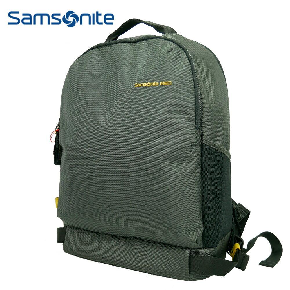 Samsonite Red 新秀麗 15吋筆電包 休閒後背包 後背包 公事包 電腦包 AU5*18003 (深灰色)