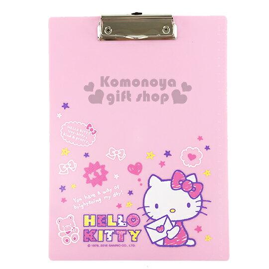 〔小禮堂〕Hello Kitty 文件夾板《粉.坐姿.拿信.小熊.星星》A4尺寸大小