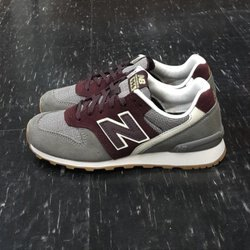 new balance nb 996 WR996GR 灰色 酒紅色 格紋 拼接 麂皮 網布 慢跑鞋 75折優惠