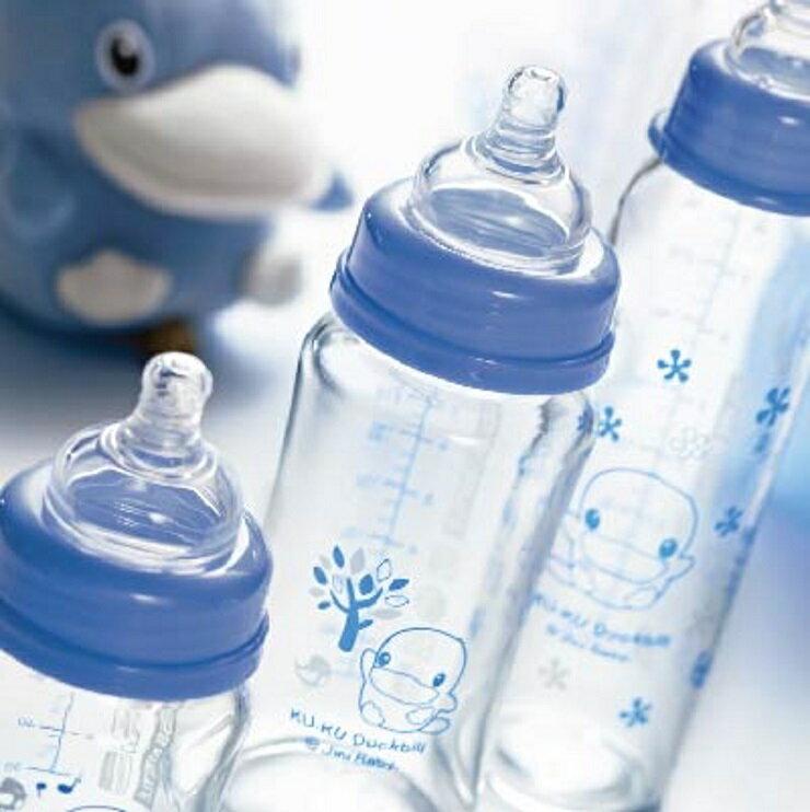 【寶貝樂園】KUKU晶亮加厚寬口玻璃奶瓶-120ml 2