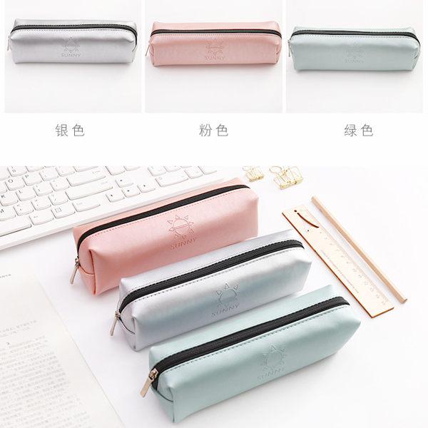 韓國簡約SUNNY筆袋鉛筆盒文具袋三色任選【庫奇小舖】